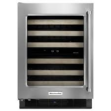 built in dual zone wine cooler. Perfect Wine KitchenAid 46Bottle BuiltIn Dual Zone Wine Cellar And Built In Cooler O