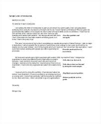 Cover Letter Intro Examples Letter Of Introduction Example Free Word