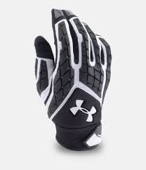 under armour football gloves. white, zoomed image under armour football gloves