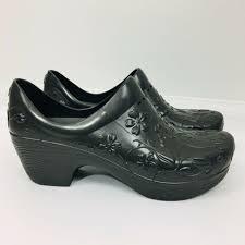 dansko womens clogs shoes pixie molded rubber size 37 dark gray slip resistant