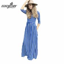 Senfloco Size Chart Soft Stretchy Striped Maxi Dresses With Pockets Us Sizes