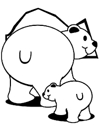 Small Picture Polar Bears Coloring Page crayolacom