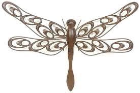 bordeaux dragonfly garden wall art