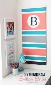 DIY Monogram Bulletin Board: Change A Brown Cork Board Into A Custom  Monogram Bulletin Board