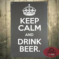keep calm and drink beer home bar wall sign decor t ray metal poster art vintage home bar wall decor