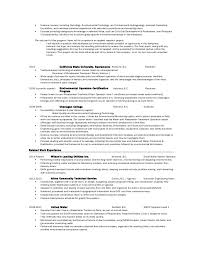 Eric S Resume. Waste Water Treatment ...