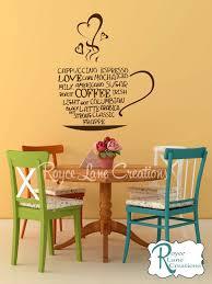 palabra caf arte cocina pared calcoman a por roycelanecreations on wall art kitchen coffee with coffee word art kitchen wall decal coffee art coffee decor kitchen