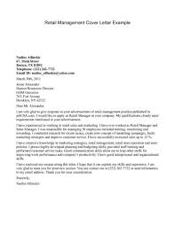 Retail Management Cover Letters Retail Manager Cover Letter Perfect