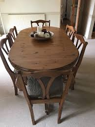 pine dining room table. Delighful Pine Ducal Victoria Antique Pine Dining Room Table And 8 Chairs For 5