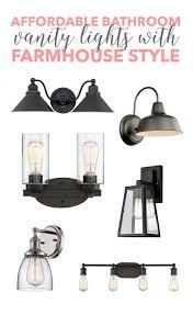 farmhouse vanity lights. Affordable Bathroom Vanity Lights With Farmhouse Style!