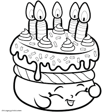 Cake Coloring Pages With Strawberry A Shopkins Best Kryptoskoleninfo
