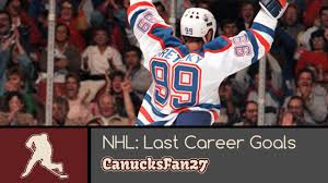 nhl last career goals nhl last career goals