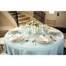 bedding dusty blue tablecloth wedding elegant round tablecloths