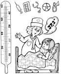 Раскраски для детей врачи