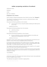 contract letter letter proposing variation of contract docular