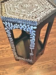 painted furniture blogsRosa Beltran Design DIY BONE INLAY PAINTED FURNITURE