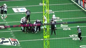 "Derrick Summers - Linebacker (LB) and Defensive End (DE) - 6'1"" 265lbs -  2015 AFL Game Clips - YouTube"