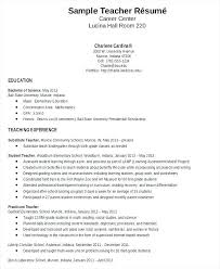 Teaching Resume Template New Elementary Teacher Resume Template Word Education Resumes Teaching