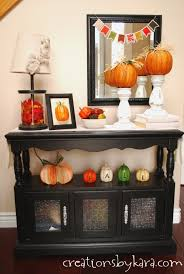 Fall Kitchen Decorating Rustic Fall Centerpiece With Acorns