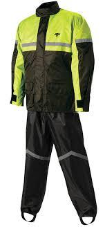 Nelson Rigg Stormrider 2 Piece Rain Suit Sr 6000 Black Hi Visibility Neon