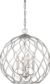 matteo c54404sv parisian mesh contemporary rusty silver pendant light fixture loading zoom