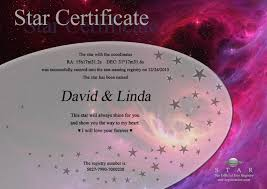 Name A Star Certificate Template Cool StarRegistration Information