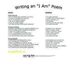 I Am Poems I Am Poem Template I Am Poem Template Educents Free