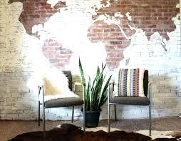 outstanding brick wall sealer indoor brick wall faux brick wall with world map indoor brick wall