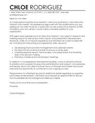 Attractive Sample Cover Letter For Executive Secretary Position 82