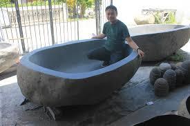 bali river stone bathtubs