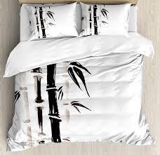 Black and white asian bedding