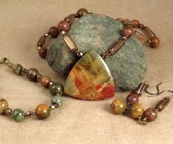 red creek jasper jewelry set necklace by preciousreikigems 65 00 i love these stones