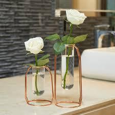 Набор ВАЗ 2 металлическая <b>ваза для цветов стеклянная</b> ваза ...