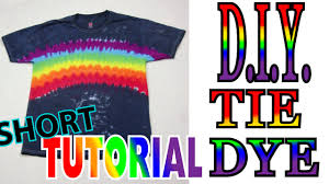 Midnight <b>Rainbow Tie Dye</b> Shirt [Short Tutorial] #64 - YouTube