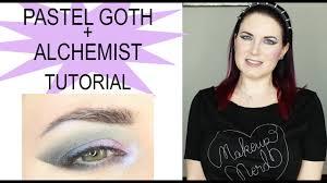 kat von d pastel goth and alchemist palette makeup tutorial
