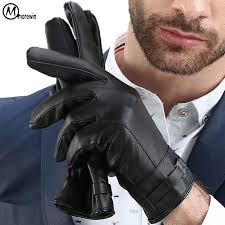 2019 2018 new mens leather gloves luxury c fleece insides thick miens male fashion spring driving gloves men dating miens from sisan08 26 22 dhgate