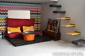 Image Living Room Lansdowne Life Modern Diy Dollhouse With Homemade Furniture part Of