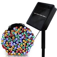 F5 <b>50/100</b>/<b>200 LED</b> Outdoor Solar Lamps LED String Lights Fairy ...