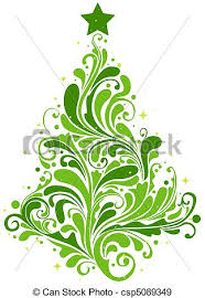 Tree Design Christmas Tree Design Featuring Abstract Swirls Shaped Like A