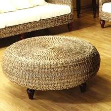 round woven coffee table round woven coffee table adorable round wicker ottoman coffee with regard to round woven coffee table