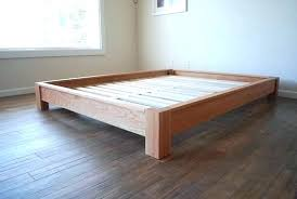 Wood Full Bed Frame Simple Wood Bed Frame Simple Bed Frame Low ...