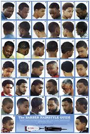 Barber Haircut Chart The Barber Hairstyle Guide Poster For
