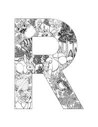 alphabet coloring pages 9