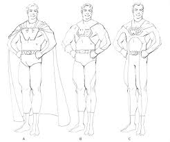 Costume Drawing Template Superhero Girl A Drawing Costume Design Template Templates For