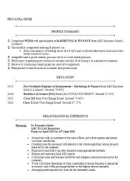 MBA Marketing & Finance Resume Sample Doc ...