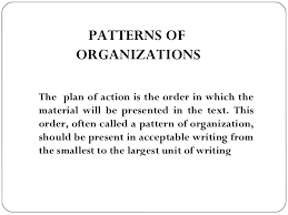 Organizational Pattern Definition