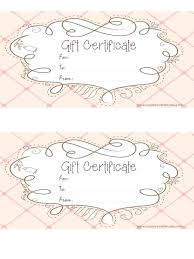 Printable Gift Voucher Template Printable Gift Certificate Free Gift