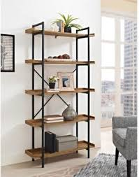 Image is loading Industrial-Bookshelf-Metal-Wood-Pipe-Rustic-5-Shelves-