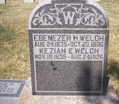 Sgt Ebenezer H Welch (1835 - 1886) - Genealogy
