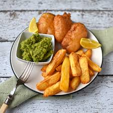 Gardeners Kitchen Beer Battered Halloumi With Chips And Mushy Peas The Circus